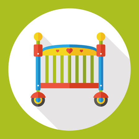 baby bed flat icon Illustration