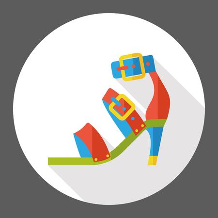 high: high heel flat icon
