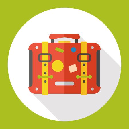 trolley case: luggage flat icon