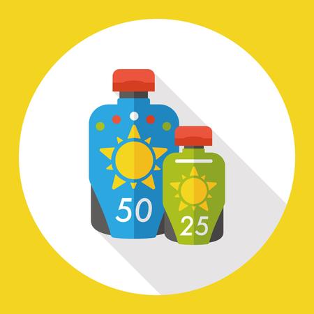 summer sunscreen flat icon Illustration