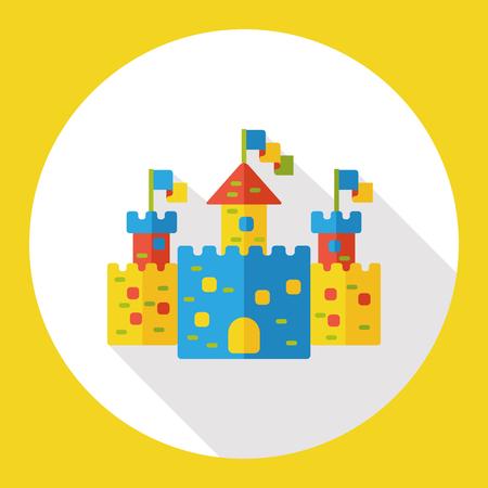 sand castle: sand castle flat icon Illustration