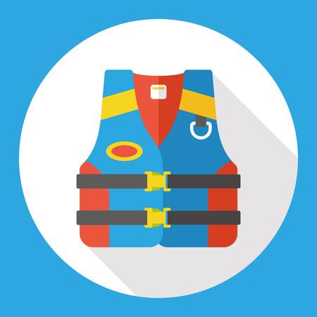 Rettungsweste Flach icon