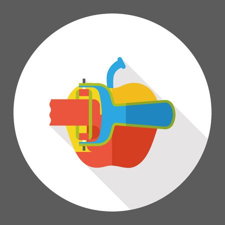 peeler: fruit peeler flat icon