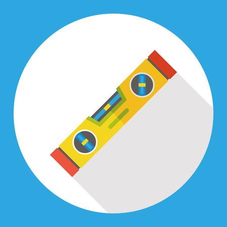 Poziom metr ikona narzędzia płaskim