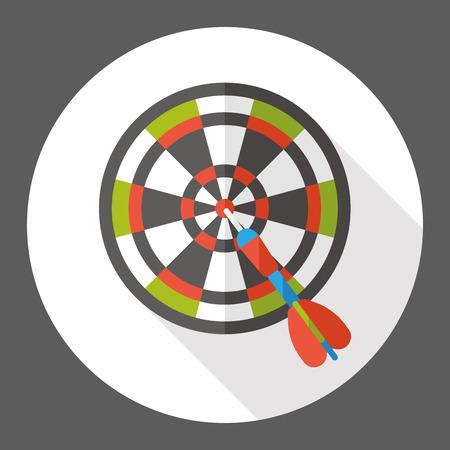 bullseye: sport Darts flat icon