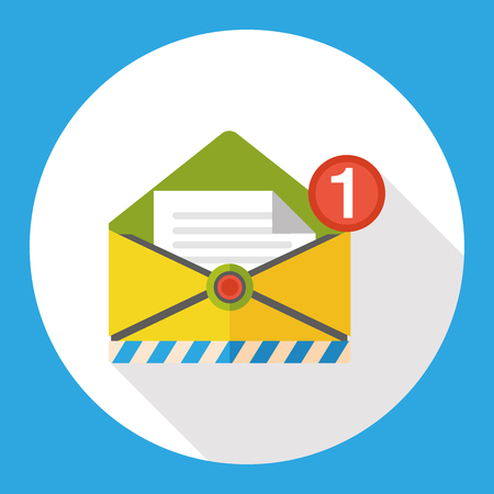 send: office mail flat icon