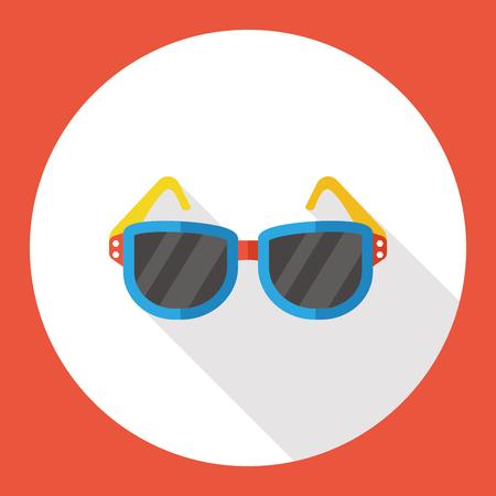 accessory: accessory sunglasses flat icon Illustration