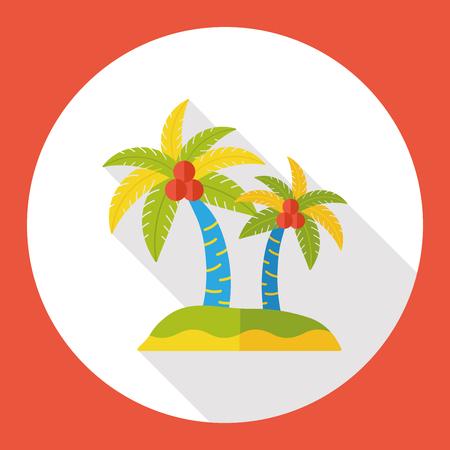 beack: beack island flat icon Illustration