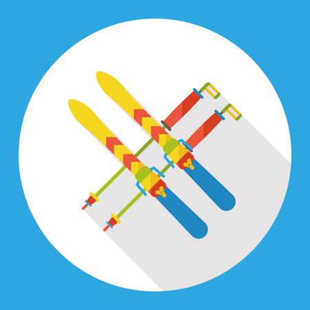 slopes: sport ski flat icon Illustration