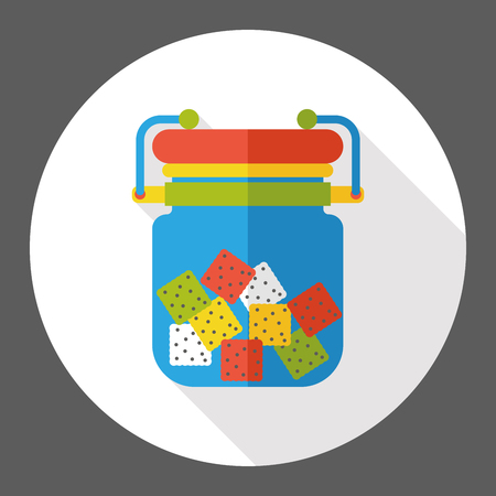 sauce: sauce jar flat icon