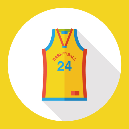 t shirt isolated: sport wearing flat icon