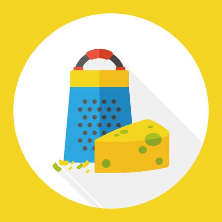 peeler: cheese Peeler flat icon Illustration