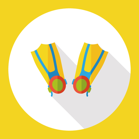 flippers: swimming Flippers flat icon