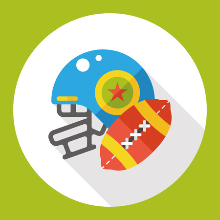 sports equipment: sport football flat icon