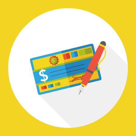money check finance flat icon Illustration