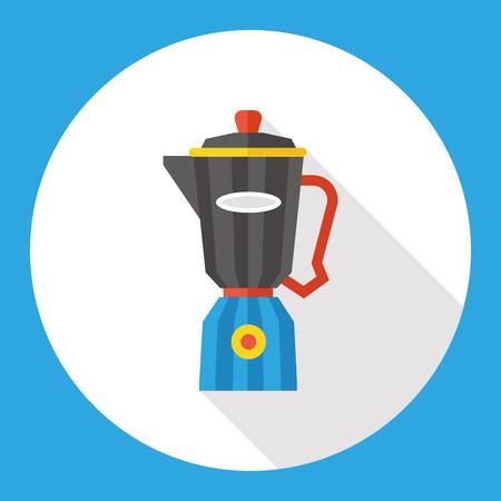 liquidizer: kitchenware juicer flat icon Illustration