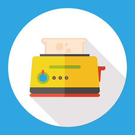bread maker: kitchenware toaster flat icon