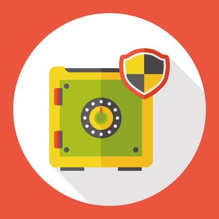 Safety Deposit Box flat icon