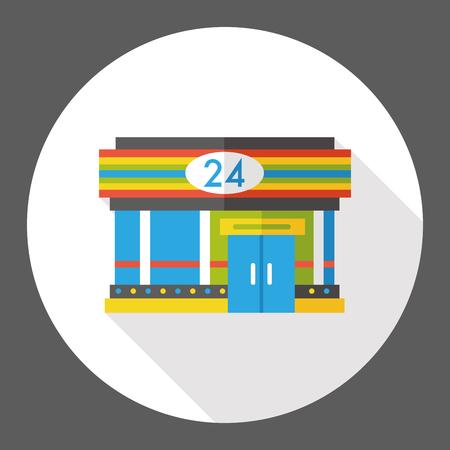 convenient store: convenient store flat icon Illustration