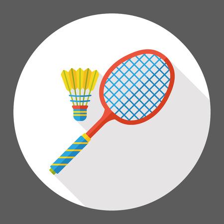 badminton sport symbol: sport badminton flat icon