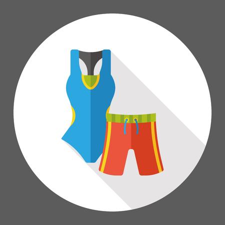 maillot de bain: Maillot de bain et pantalons ic�ne plat