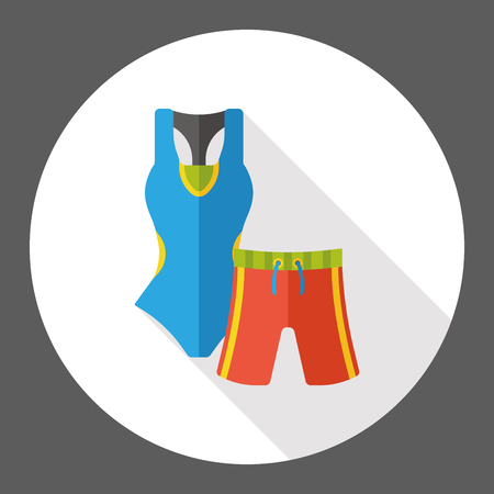 swimsuit: Swimsuit and pants flat icon
