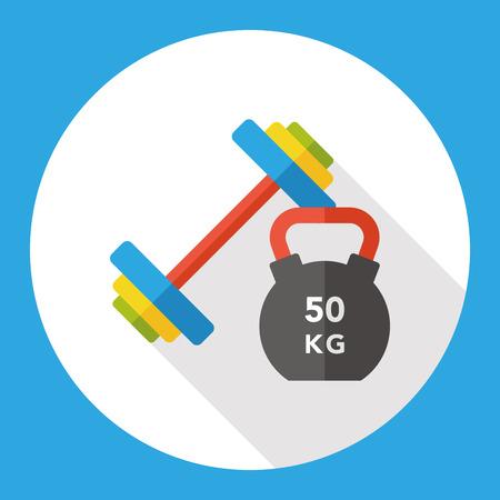 el deporte de levantamiento de pesas icono plana
