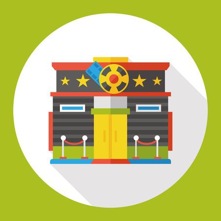 movie theater: movie theater flat icon