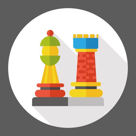 game chess flat icon Illustration