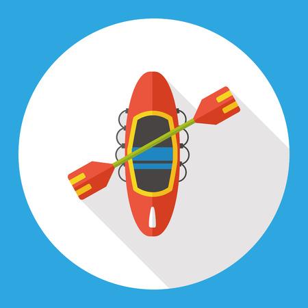 Barco canoa icono plana Foto de archivo - 51928251