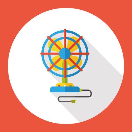 electric fan: electric fan flat icon Illustration