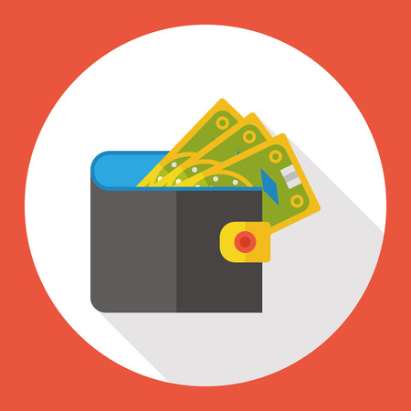 money wallet: money wallet flat icon
