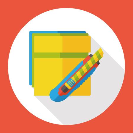 utility: Utility knife tool flat icon