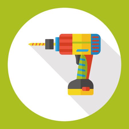 drill: drill tool flat icon