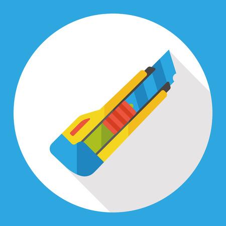 utility knife: Utility knife flat icon