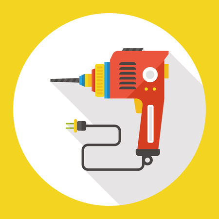 electric drill: electric drill flat icon