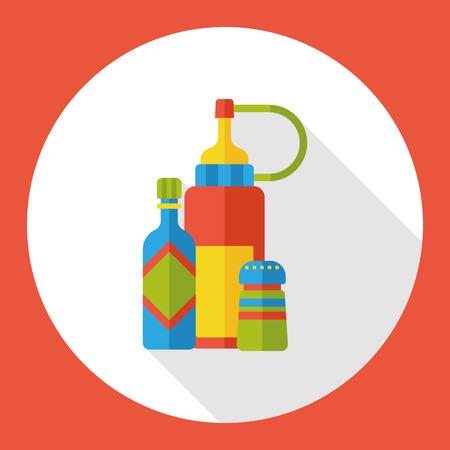 sauce bottle: sauce bottle flat icon