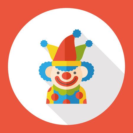 clown face: circus clown flat icon