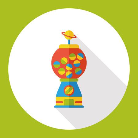 bubble gum: toy bubble gum machine flat icon