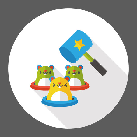 whack-a-mole flat icon