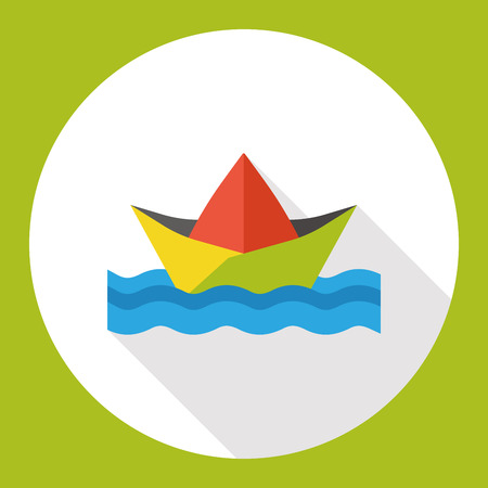 paper boat flat icon