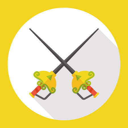 esgrima: Deporte Esgrima icono plana