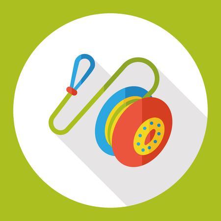 toy yoyo flat icon
