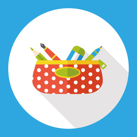 pencil case: pencil case flat icon
