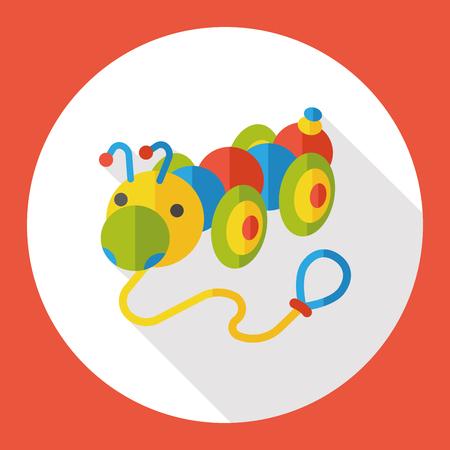 creep: toy Caterpillar flat icon Illustration