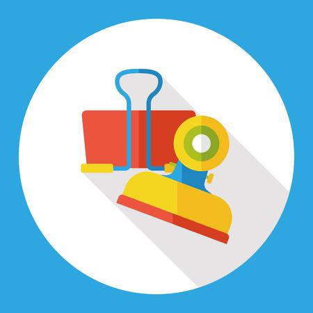 binder clip: Binder Clip flat icon
