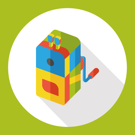hole in one: Pencil sharpener flat icon