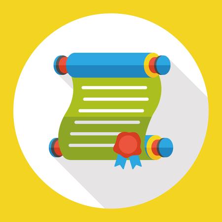 papier a lettre: Papier à lettre icône plat Illustration