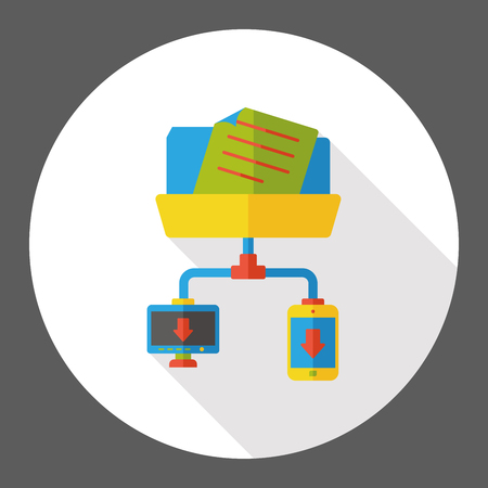 file transfer: computer file transfer flat icon