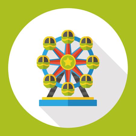 ferris: Ferris wheel flat icon